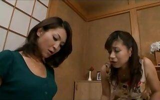 Japanese Lesbians (How she met her noisy neighbor)